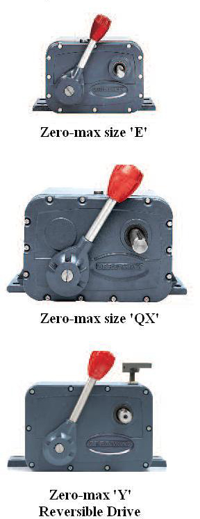 ZERO MAX GEARBOXES AND VARIATORS